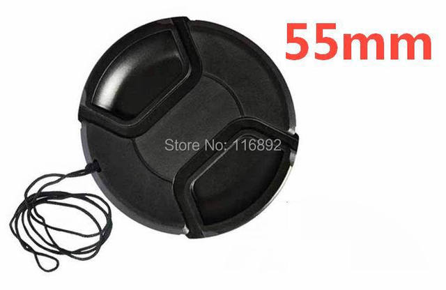 55mm center pinch Snap-on cap cover for 55mm  camera Lens