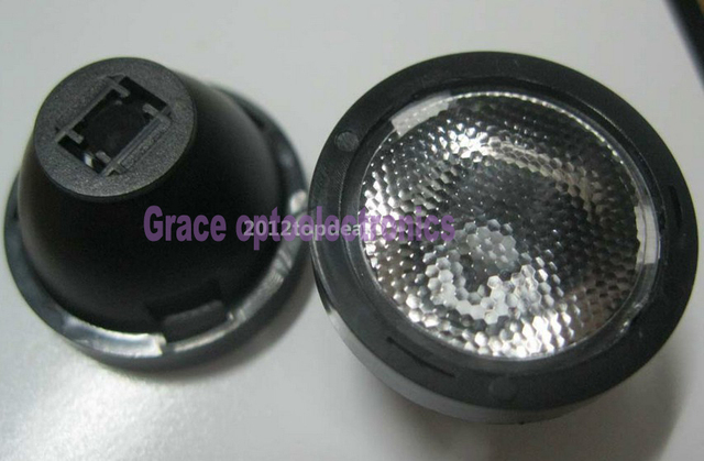 10PCS x 45 Degree 21mm frosted Lens For Cree XPE XPG XTE LED WITH Lens Holder
