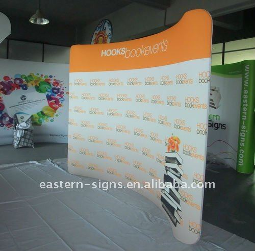 10ft Aluminum Stand with Stretch Fabric Banner