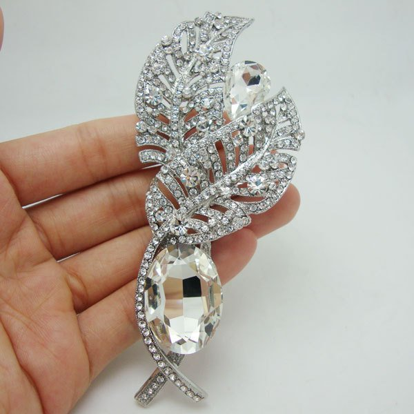 Bride Fashion Futaba Rhinestone Crystal Bride Bridesmaid Wedding Pendant Brooch Pin