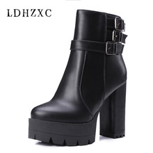 LDHZXC 2019 pointed toe autumn winter ankle boots simple zipper fashion high heels boots casual ladies shoes big size 11 12