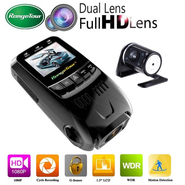 Dual Lens Car DVR Auto Vehicle Camera Support GPS Logger Dashboard B40s Plus Novatek 96650 Dashcam Full HD 1080P WDR Dash Cam