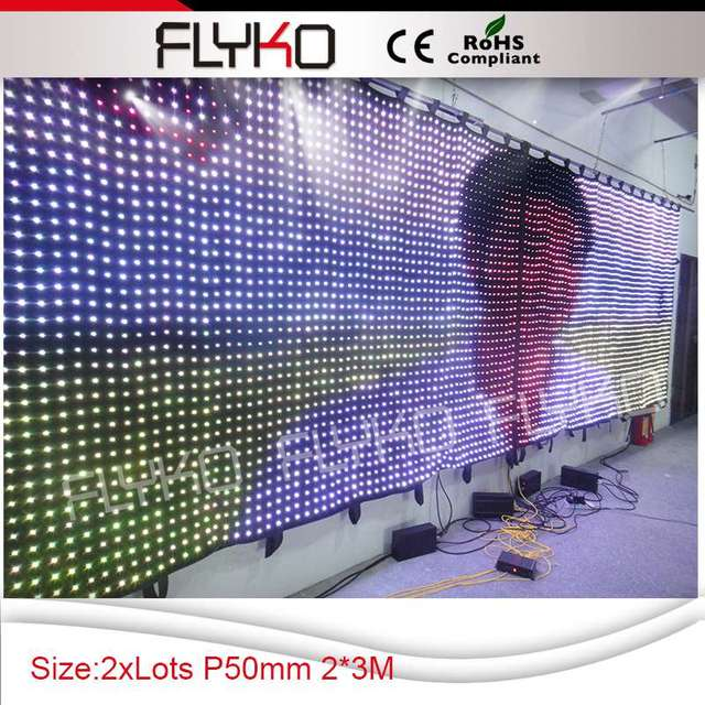 Free shipping P5 2X3 Cloth curtain led displays