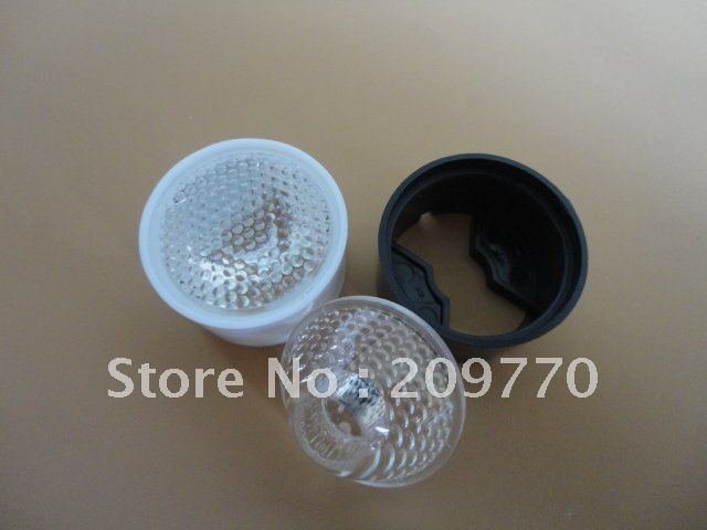 LED lens With stent 24MM Particle surface 45 degrees lens ,1W 3W 5W LENS
