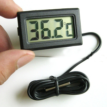 Mini Car Kit Electronic Thermometer Autos LCD Display Digital Tiny Thermometer Built-In Probe