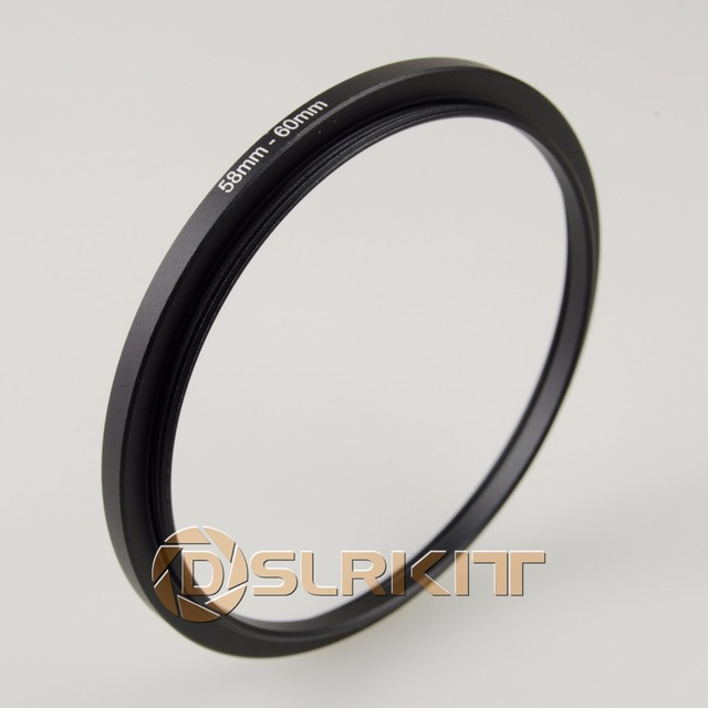 DSLRKIT 58mm-60mm 58-60 mm Step Up Filter Ring Stepping Adapter