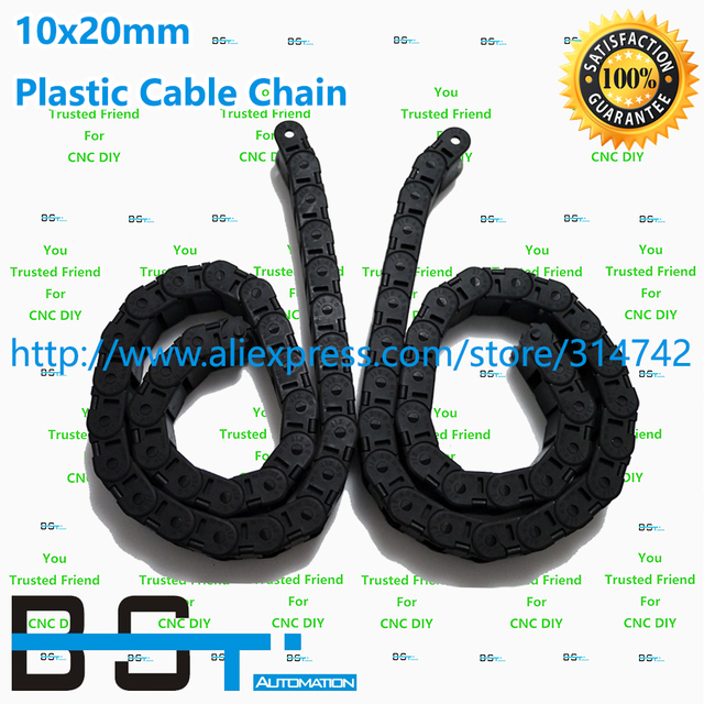 5 meters 10mm*20mm CNC Plastic cable drag chains TP 10x20 cable carrier for CNC Router Machine Tools