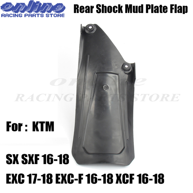 Motorcycle MX Rear Shock Mudlding Plate guard fender For SX SXF 16-18 EXC 17-18 EXC-F 16-18 XCF 16-18 Dirt Bike