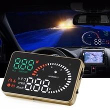 3 inch Car Universal OBD II HUD Fuel Consumption Warning System Vehicle-mounted X6 Head Up Display Projector