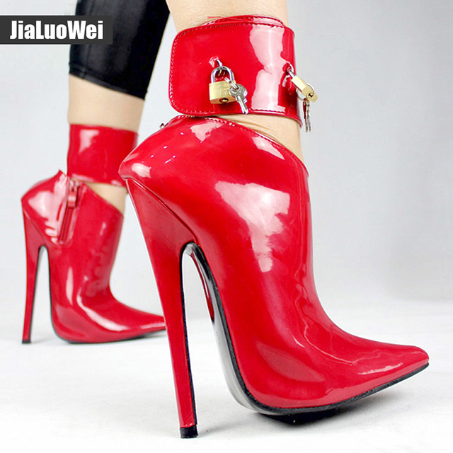 2019 Arrive Woman Fashion Sexy High Heel Pumps Dance/Party Shoes Ankle Strap Women Leather Lock Stiletto Thin High Heels shoes