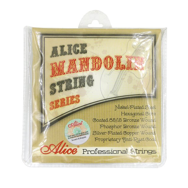 Alice AM06 Mandolin Strings Set .010-.034 Coated 85/15 Bronze Wound Plated Steel 4 Strings Anti Rust Coat