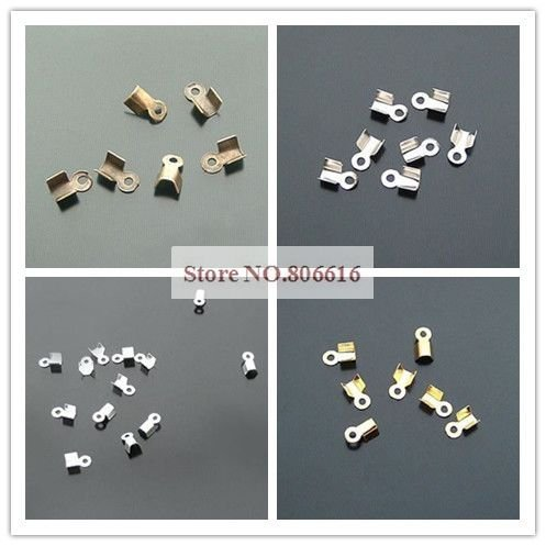 3.5MM 2000Pcs Connectors Flat Rope/Wire Crimps Bead End Beads Jewelry Findings Accessories