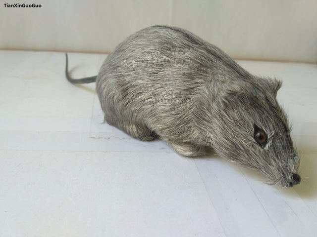 about 15cm simulation gray mouse hard model prop polyethylene&furs handicraft funny toy decoration gift s1586