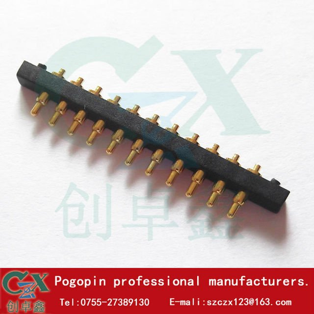 2.54 spacing 11 pin spring pin connector pogopin current signal needle manufacturers selling 100 sets minimum of $0.8 set