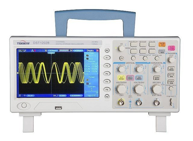 """DHL Free Shipping,Tekway DST1202B Oscilloscope,2channels 200MHz 1GSa/s, 7""""TFT 16-digit color,800*480 Resolutio"""