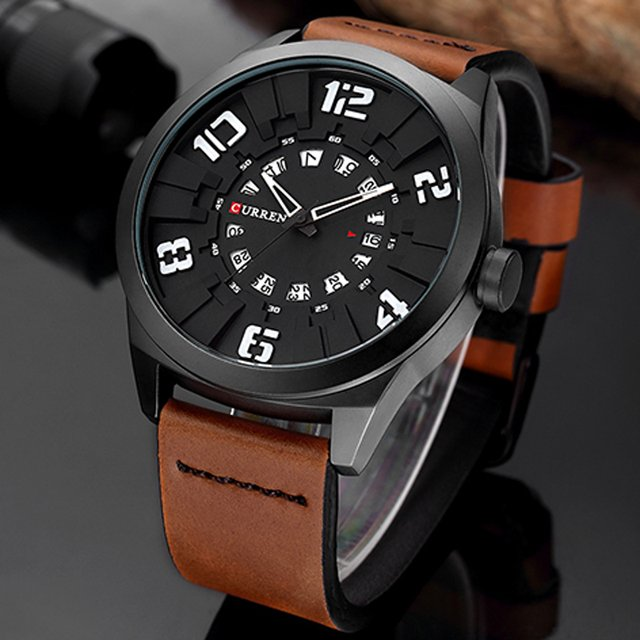 Luxury Brand CURREN Men Watch Fashion Casual Watches Man Sport Clock Male Military Leather Quartz Watch Relogio Masculino 2017