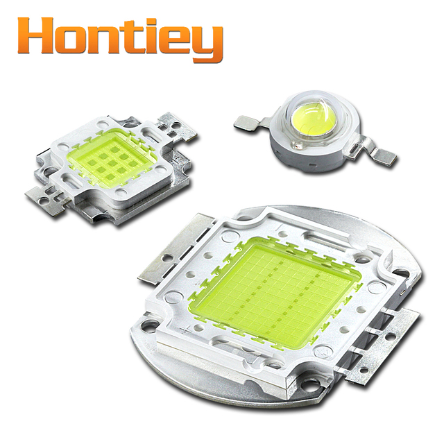 Hontiey LED Cool Cold White Chip Matrix light 10000K 20000K 30000K 1W 3W 5W 10W 20W 30W 50W 100W High Power Lamp integrated DIY