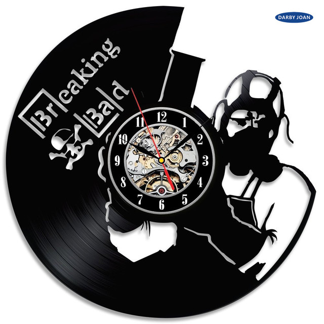 saat Breaking Bad Popular TV Series Theme Vinyl Clock dial vision