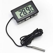 LCD Digital Thermometer Hygrometer Probe Fridge Freezer Thermometer Thermograph for Refrigerator Temperature Control -50~110 C