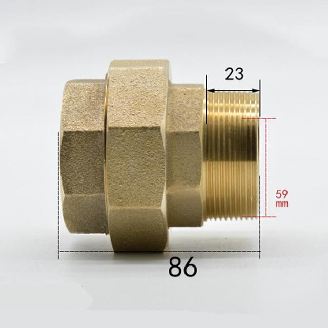 """DN50 G 2"""" BSPP Female to Male Brass Socket Union Coupler Connector Adapter Water Gas Oil"""
