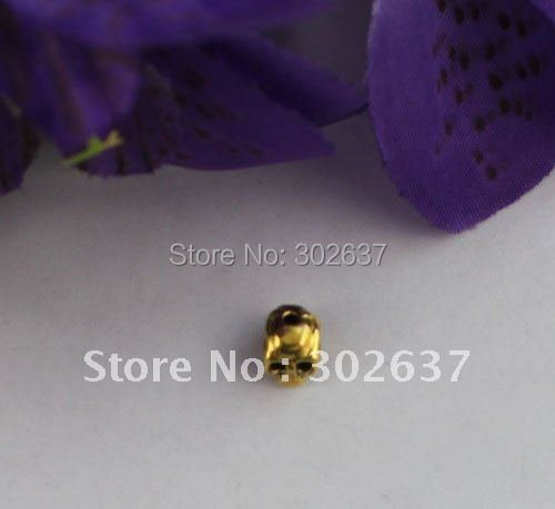 60PCS Antiqued Gold Color plate Skull Spacer Beads #22082