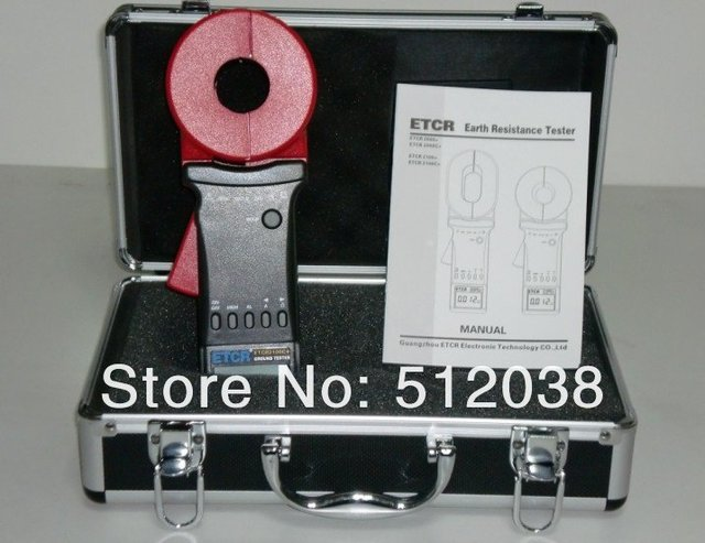 ETCR2100+ Clamp On Ground Resistance Tester meter  0.01~1200 ohm