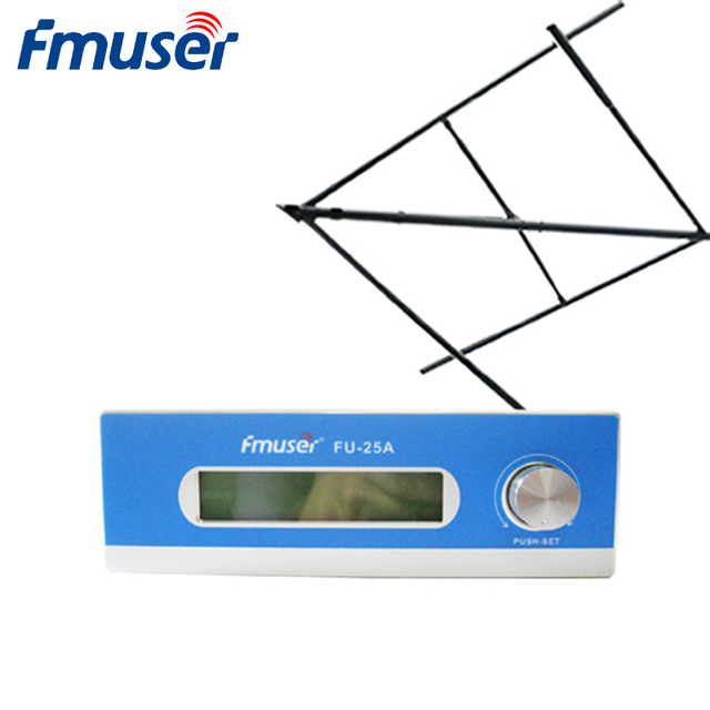 FMUSER FU-25A 25W Low Power Long Range FM Transmitter Broadcast For FM Radio Station+CP100 Antenna Kit CZH-T251