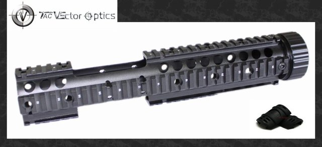 Free S&H Vector Optics 223/5.56mm 12'' Inch Handguard Quad Free Float Picatinny Rail Extension with 18x Guards PACK