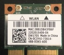 Карта для Dell Wireless DW1705 WLAN WiFi 802,11 b/g/n + Bluetooth 4,0 половинной высоты Mini-PCIe
