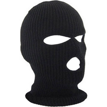 Russia Full Face Cover Mask Three 3 Hole Balaclava Knit Hat Winter Stretch Snow mask Beanie Hat Cap New Black Warm Face masks