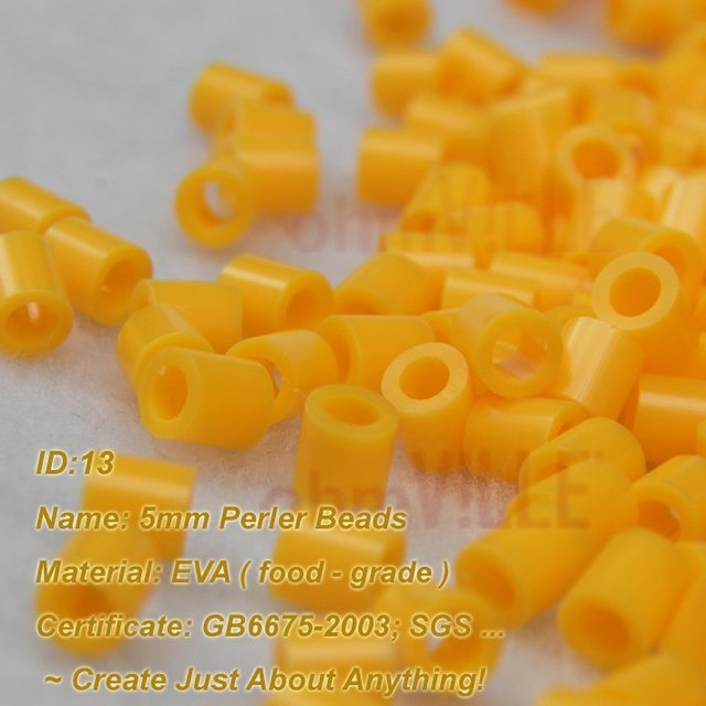 5mm Perler Beads ( Yellow - ID:13 ) Hama Beads, Fused Beads ~Create Just About Anything~ Guaranteed 100% Quality + Free Shipping