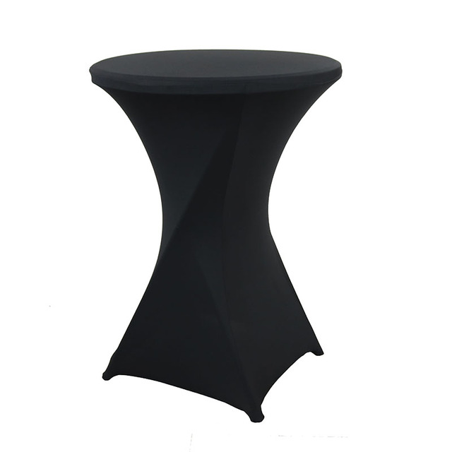 Black Stretch Cocktail Lycra Table Cover For Wedding Event Party Decortion White outdoor table Cover Cloth
