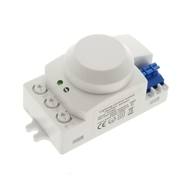 Microwave radar Sensor Switch 1200W AC 220-240V Infrared Sensor Switch 360 Degree Time Setting Motion Sensor Auto On/off