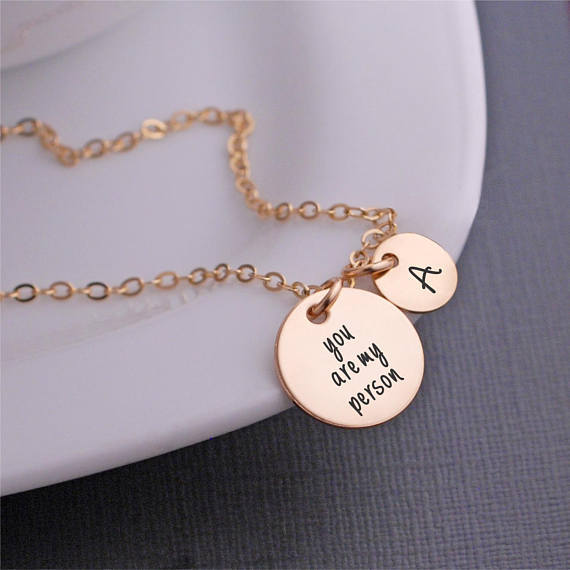 You are My Person Necklace, You're My Person Jewelry, Custom Anniversary Gift for Wife,  Gift for Girlfriend YP3743