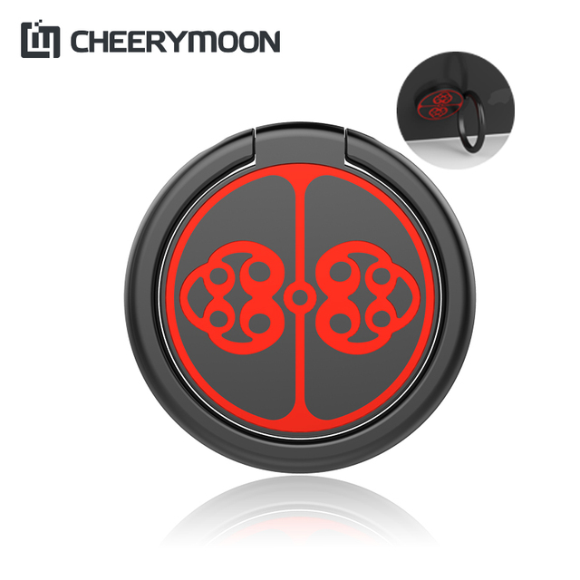 CHEERYMOON Plate Buckle Ring Holder Metal Finger Grip Universal Mobile Phone For iPhone Stand Magnetic Car Bracket Full Tracking