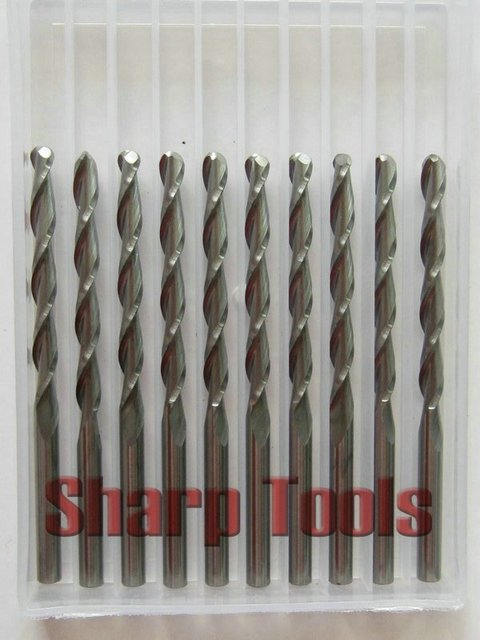 10 pcs 3.175*32mm 2 Flutes Ball Nose Milling Cutters, Carving Router Bits, Machine Engraving Tools, End Mills, 3D Relief on Wood