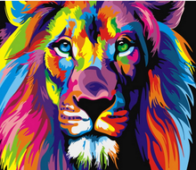 Painted Lions Pictures Oil Painting Frameless By Numbers DIY Digital Painting On Canvas Europe Home Decoration Wall Art