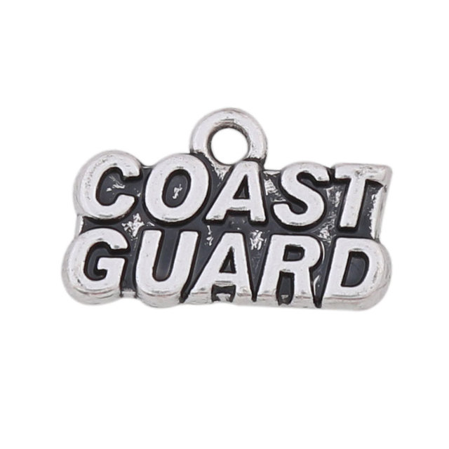RAINXTAR Fashion Vintage Alloy Numbers Charms Coast Guard Vintage Letter Accessories Charms 11*18mm 50pcs AAC1161