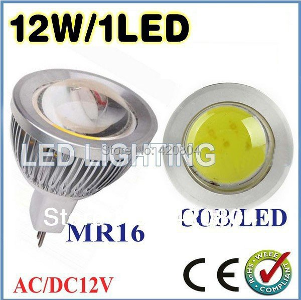JE1pcs/lot 3W 9W 12W 15W MR16 GU10 E27 COB LED Spot Light Spotlight Bulb Lamp High power lamp AC/DC12V 3 years Good Quality