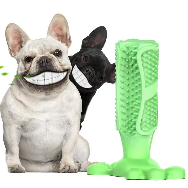 Drop Shipping Dog Toothbrush Stick Dental Care Brush Pet Chew Toy Interactive Training Dogs Pets Oral Care Dog Brushing Stick