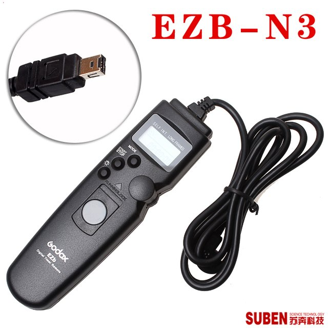 Godox cattle EZB - N3 timed shutter release for the nikon D3100 / D90 / D7000 with remote control