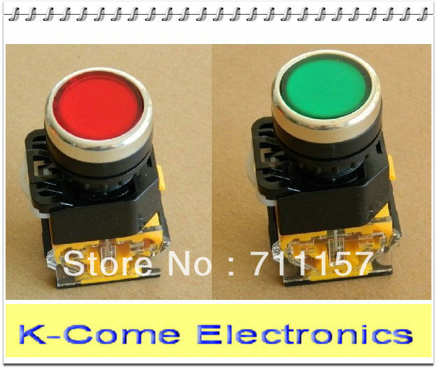 660V/10A DC/AC 4 Terminals DPST Push Button Momentary Press Switch 1NO+1NC Heavy Duty 2 Color For Option LA38
