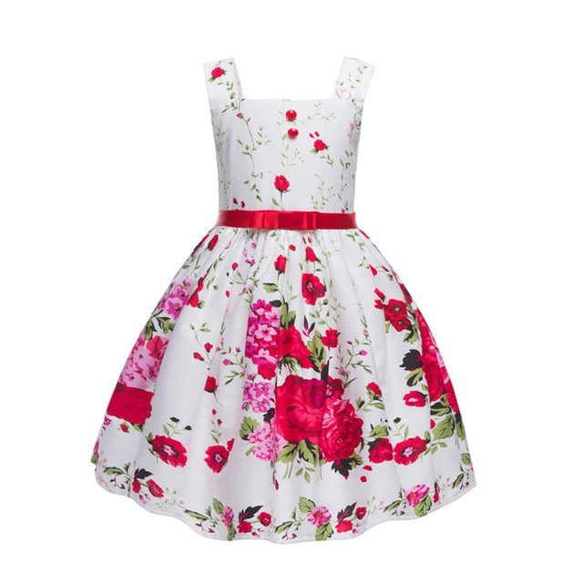 Girls Dress European Summer Baby Girl Dresses Kids Vest Dress Children Clothing Vestido Infantil 3-9 Years