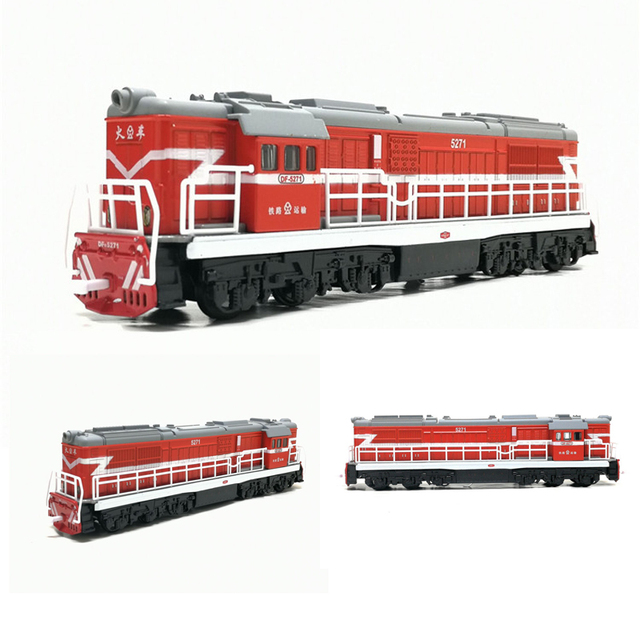 1:50 Diecast Toy Model China Classical Dong Feng 5271 Locomotive Classical Train With Pull Back Sound Light Toys Free Shipping