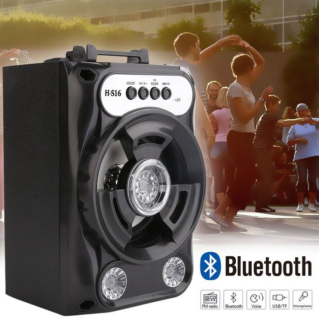 Large Size Bluetooth Speaker Wireless Sound System Bass Stereo with LED Light Support TF Card FM Radio Outdoor Sport Travel
