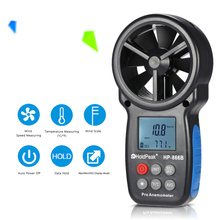 HoldPeak HP-866B Mini LCD Digital Anemometer thermometer anemometro Wind Speed Air Velocity Temperature Measuring with Backlight
