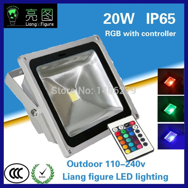20w RGB Waterproof Outdoor led Floodlight IP65 LED Outdoor Lighting Lamp LED Spotlight for square hotel