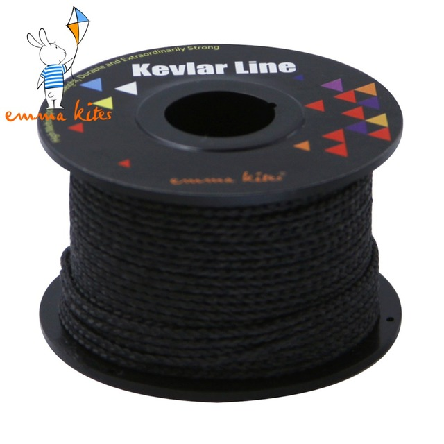 100ft 500lb With Core Black Braided Kevlar Line Outdoor Kite Line for Large Kite Flying Outdoor Fishing Camping Backpacking