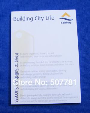 A6 Size 20 sheet notepad, promotional , customized, every page with your logo ,400pcs/lot