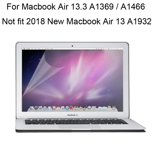"10pcs/lot for macbook air 13.3"" A1466 A1369 screen cover high clear film for Macbook Air 13 inch screen protector"